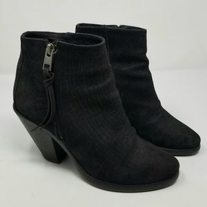 All Saints Leather 'Lester' Black Booties